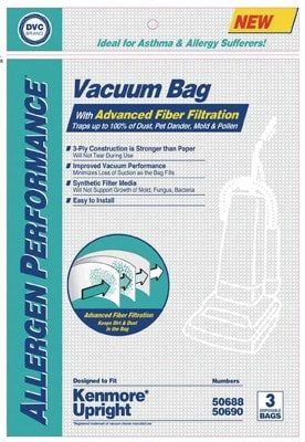 "DVC Kenmore Upright ""50690"" Allergy Bags-3pkg"