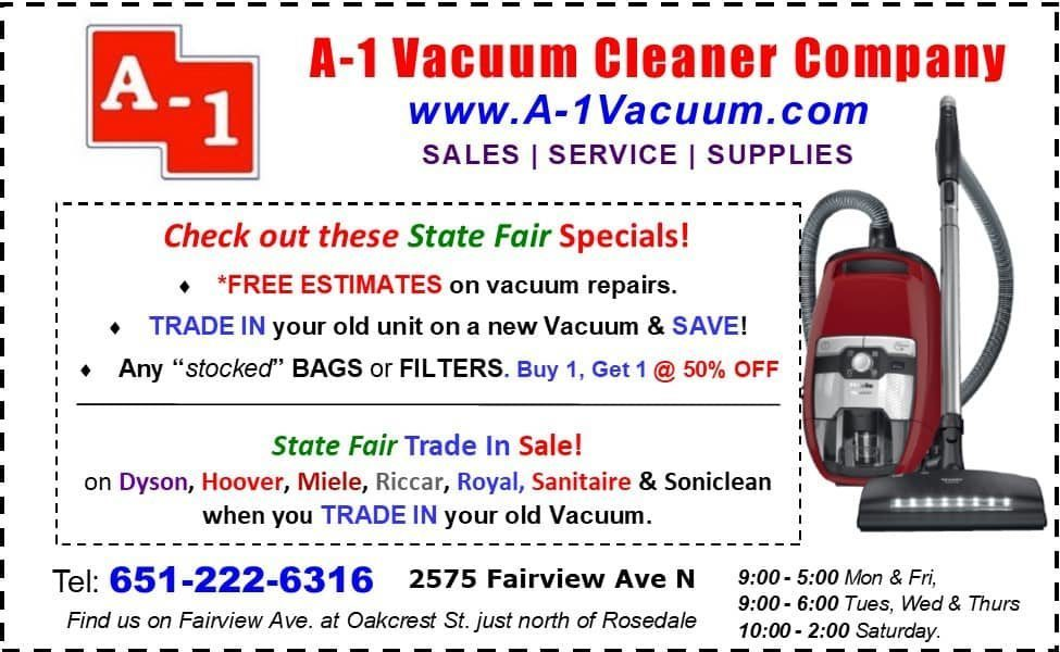 A-1 Vacuum Cleaner Company | Vacuum Cleaners and Repair