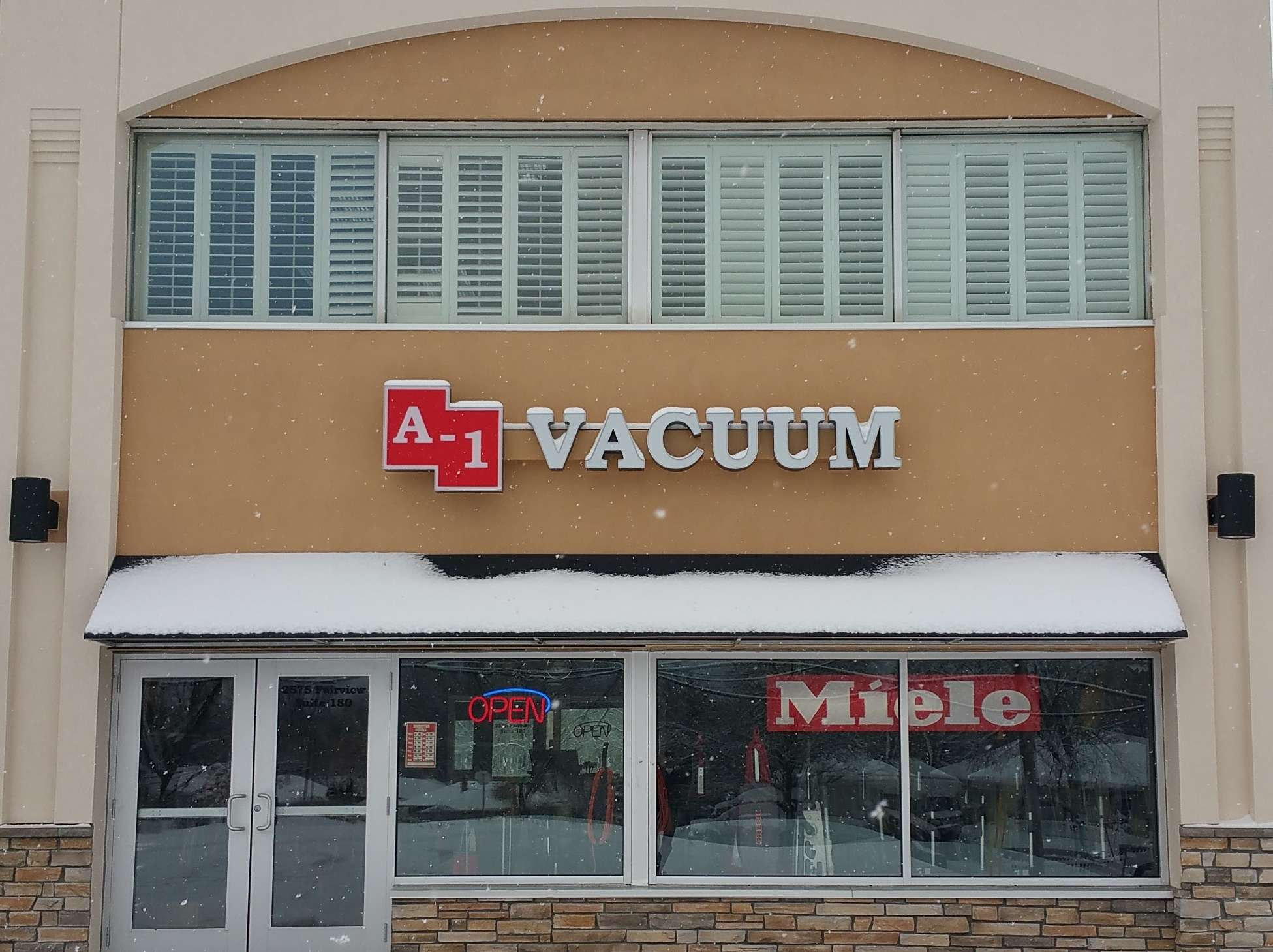 Wintery Home of A-1 Vacuum