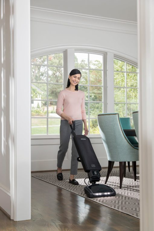 Oreck Elevate Cordless Upright, in use