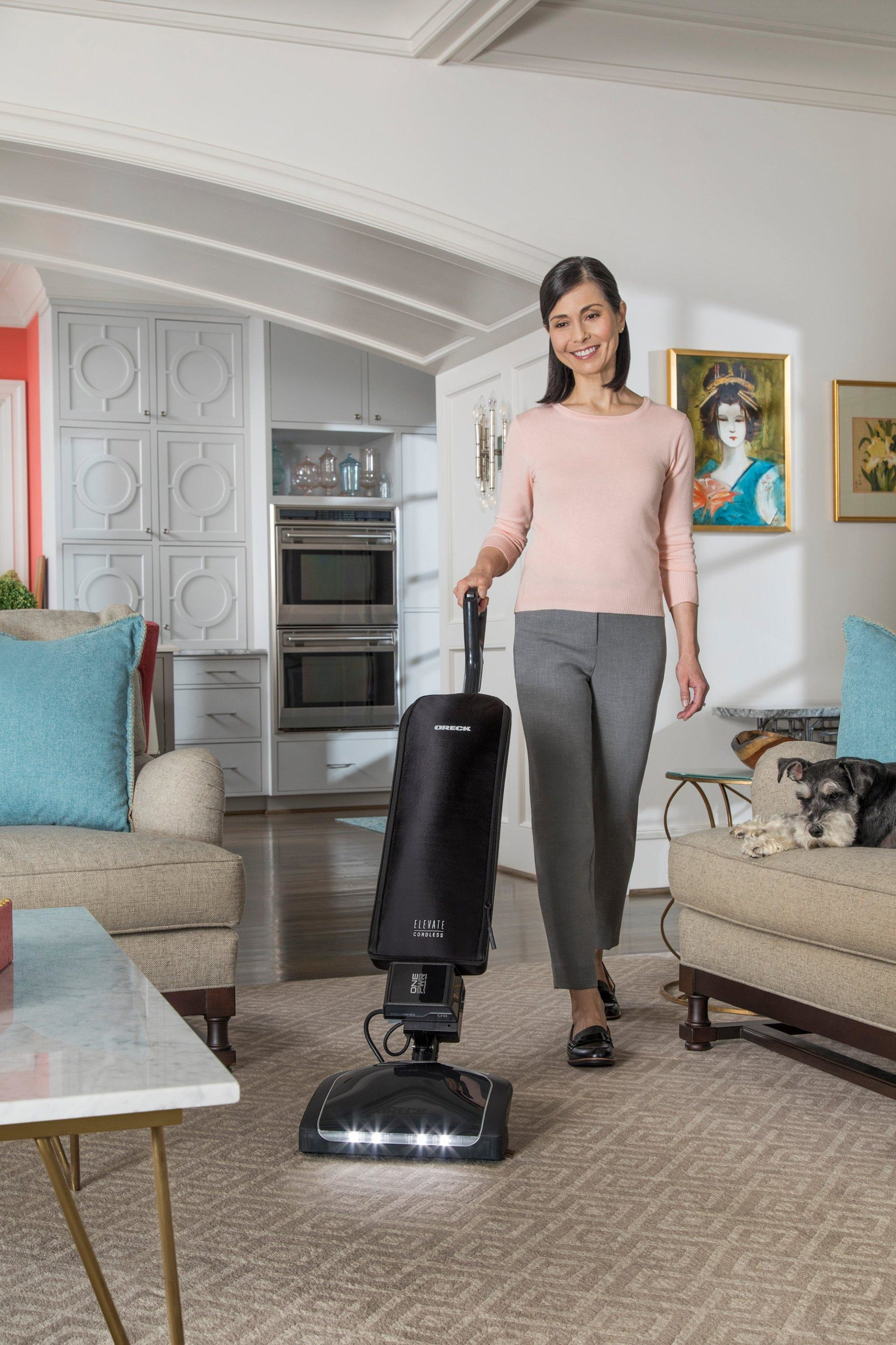 Oreck Elevate Cordless Upright, in room
